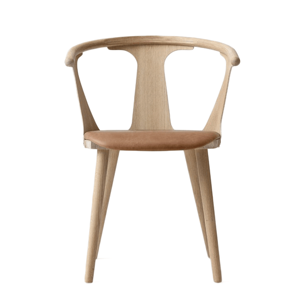 &Tradition - In Between Dining Chair - White Oiled Oak / Leather - Lekker Home