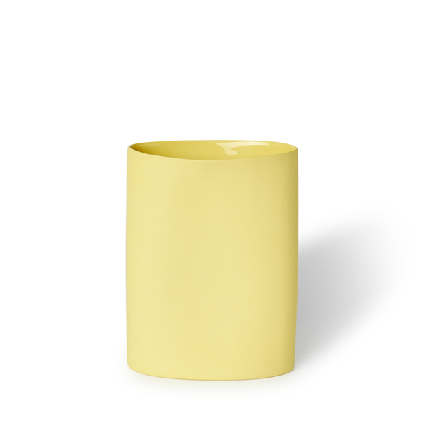 MUD Australia - MUD Oval Vase - Yellow / Medium - Lekker Home