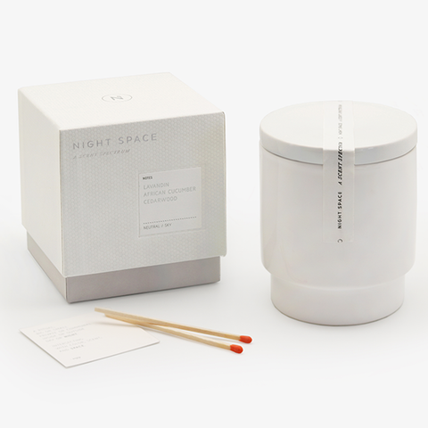 Night Space - Pure White Neutral Sky Candle - Lekker Home