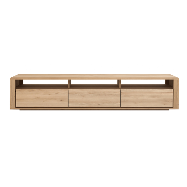 "Ethnicraft NV - Shadow TV Cabinet - Solid Oak / 82"" - Lekker Home"