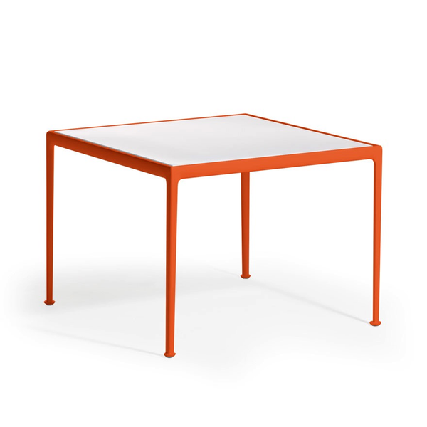 Knoll - 1966 Dining Table - Orange/White / Square - Lekker Home