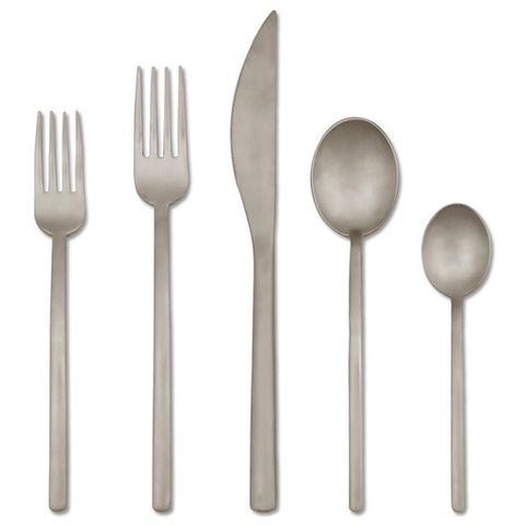 MEPRA S.p.A. - Due Flatware Collection - Polished / 5 Piece Place Setting - Lekker Home