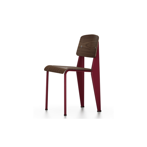 Vitra - Standard Chair - Japanese Red / Black Pigmented Walnut - Lekker Home