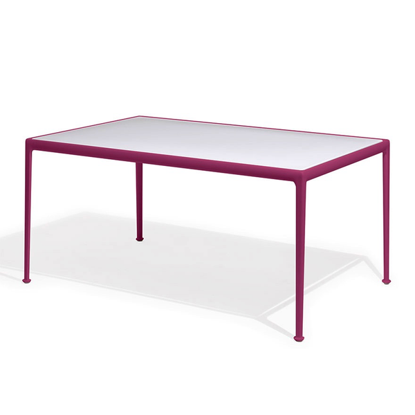 Knoll - 1966 Dining Table - Plum/White / Rectangle - Lekker Home