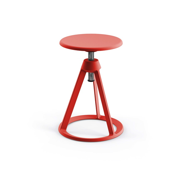 Knoll - Piton™ Adjustable Height Stool - Red Coral / Red Coral - Lekker Home