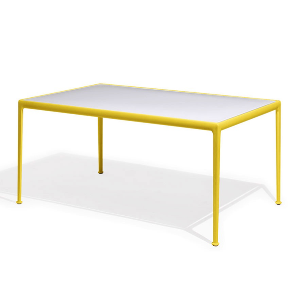 Knoll - 1966 Dining Table - Yellow/White / Rectangle - Lekker Home