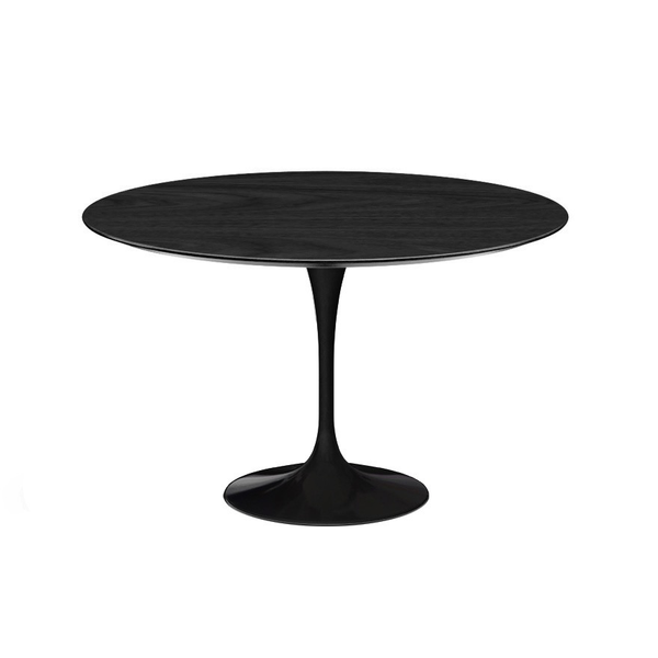 "Knoll - Saarinen Dining Table 47"" Round - Ebonized Walnut / Black - Lekker Home"