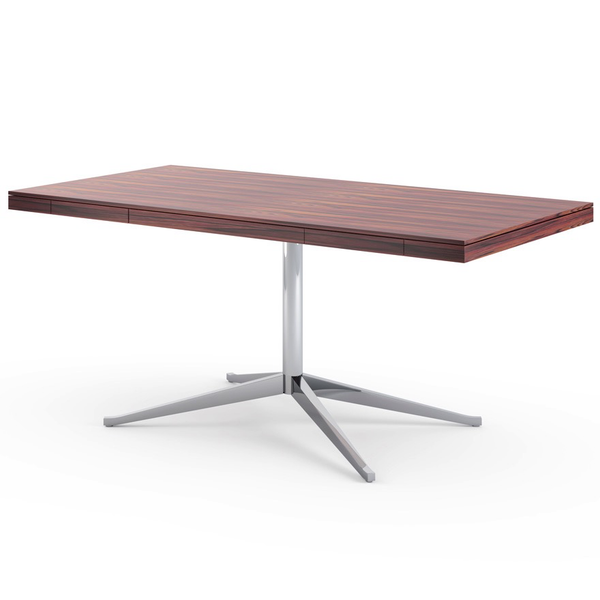 Knoll - Florence Knoll Executive Desk - Polished Chrome / Rosewood - Lekker Home
