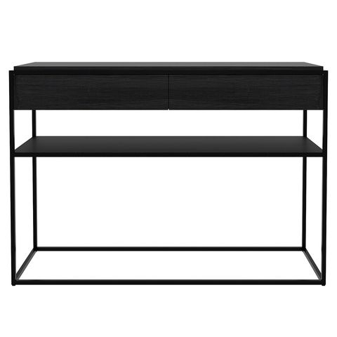 Ethnicraft NV - Monolit Console - Black / Natural Oak - Lekker Home