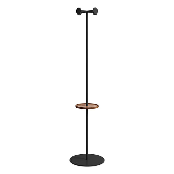Blu Dot - Amos Coat Rack - Walnut / Oblivion / One Size - Lekker Home