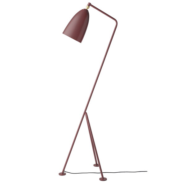 GUBI - Gräshoppa Floor Lamp - Andorra Red Semi Matte / One Size - Lekker Home