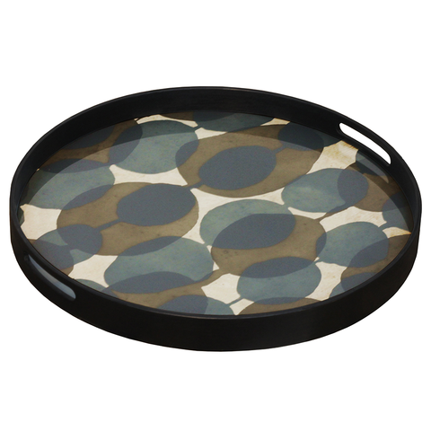Connected Dots Round Tray