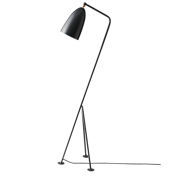 GUBI - Gräshoppa Floor Lamp - Anthracite Grey Semi Matte / One Size - Lekker Home