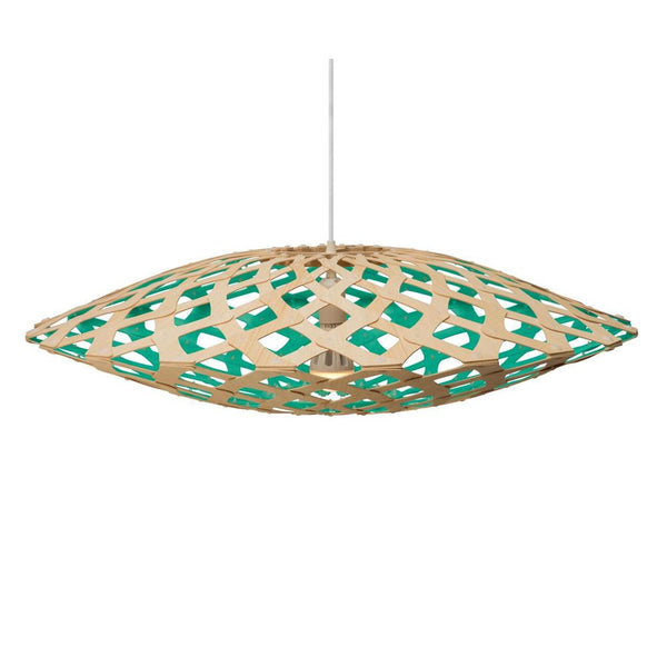 David Trubridge - Flax Pendant - Natural / Aqua / 800 - Lekker Home