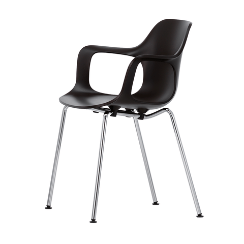 Vitra - HAL Armchair - Basic Dark / Chrome-Plated Tube - Lekker Home