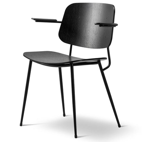 Fredericia - Søborg Armchair - Black Lacquered Oak / Black Painted - Lekker Home