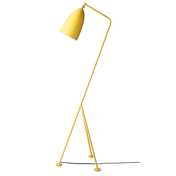 GUBI - Gräshoppa Floor Lamp - Aspen Yellow Semi Matte / One Size - Lekker Home