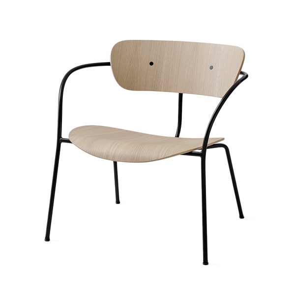 &Tradition - AV5 Pavilion Lounge Chair - Lacquered Oak / Black - Lekker Home