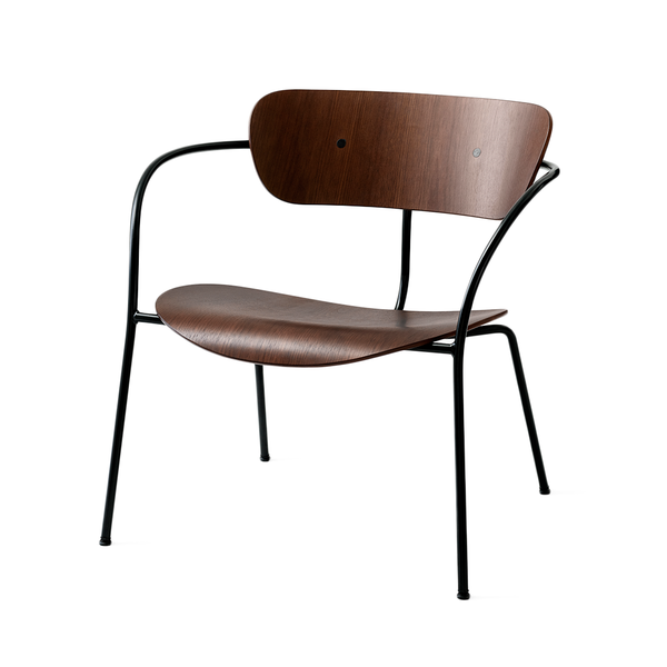 &Tradition - AV5 Pavilion Lounge Chair - Lacquered Walnut / Black - Lekker Home
