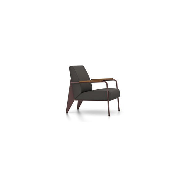 Vitra - Fauteuil de Salon - Twill Dark Grey / Chocolate - Lekker Home