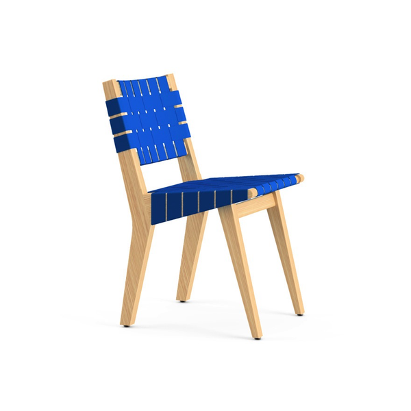 Knoll - Risom Child's Side Chair - Blue / Webbed Back - Lekker Home