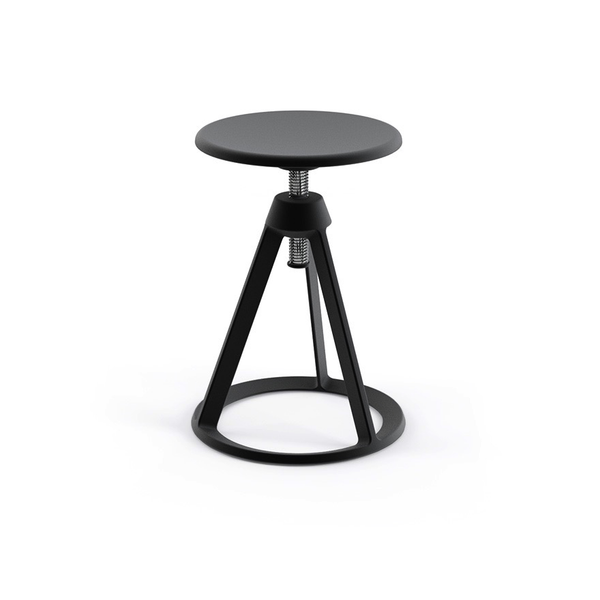 Knoll - Piton™ Adjustable Height Stool - Jet Black / Jet Black - Lekker Home