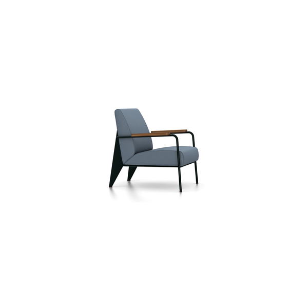 Vitra - Fauteuil de Salon - Twill Blue-Grey / Deep Black - Lekker Home
