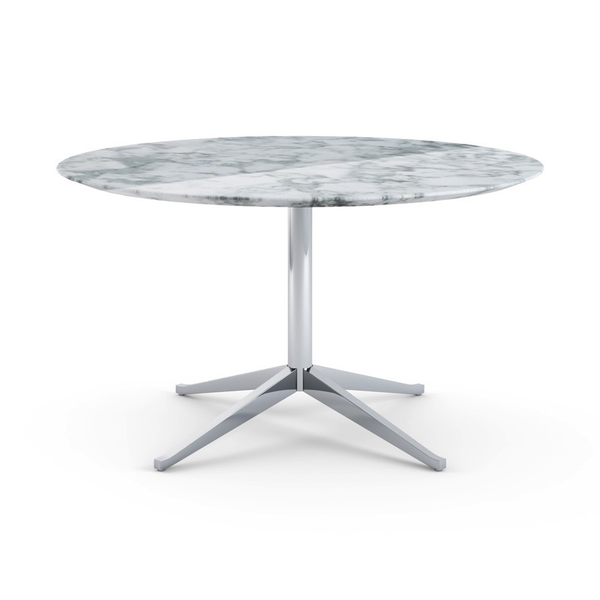 Knoll - Florence Knoll Table Desk Round - Arabescato Coated Marble / One Size - Lekker Home