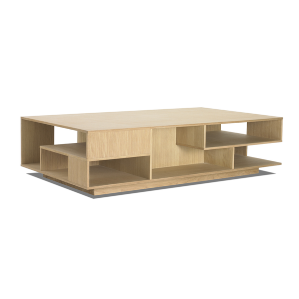 "Eilersen - Penthouse Coffee Table - Lacquered White Oak / 39"" - Lekker Home"