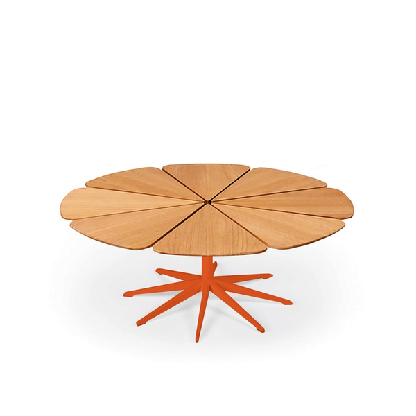 Knoll - Petal® Coffee Table - Orange / Teak Petals - Lekker Home