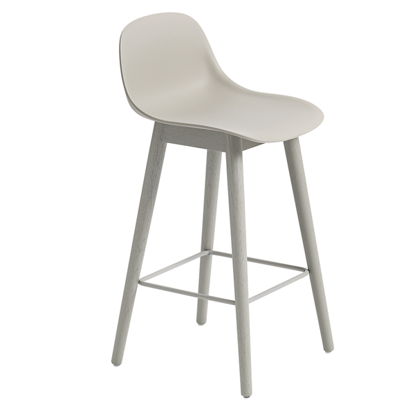 Muuto - Fiber Counter Stool with Backrest - Lekker Home