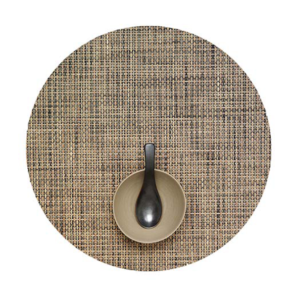 Chilewich - Basketweave Placemat - Bark / Round - Lekker Home