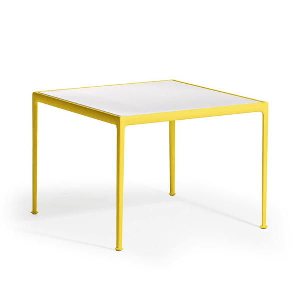 Knoll - 1966 Dining Table - Yellow/White / Square - Lekker Home