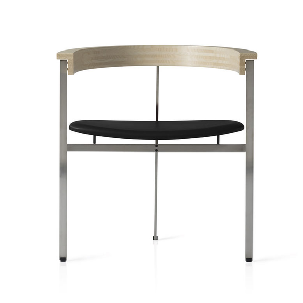 Fritz Hansen - PK11™ - Elegance Leather Black / Brushed Stainless Steel - Lekker Home