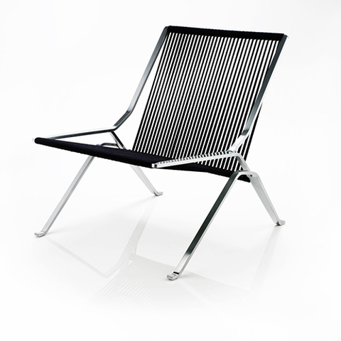 Fritz Hansen - PK25™ Lounge Chair - Black / One Size - Lekker Home