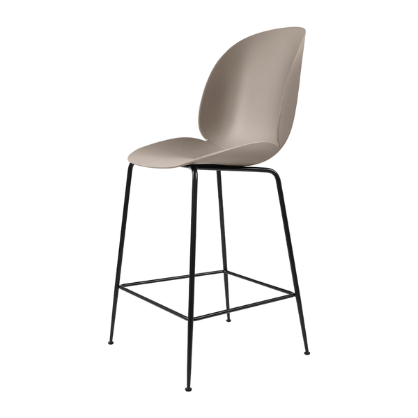 GUBI - Beetle Counter Stool - New Beige / Matte Black - Lekker Home