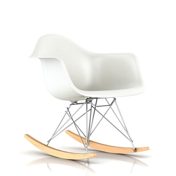 Herman Miller Eames Molded Plastic Chair eames® molded plastic armchair - rocker baseherman miller
