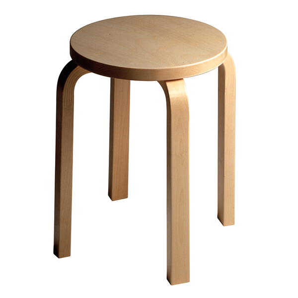 Artek - Stool E60 - Natural Lacquered / Birch Veneer - Lekker Home
