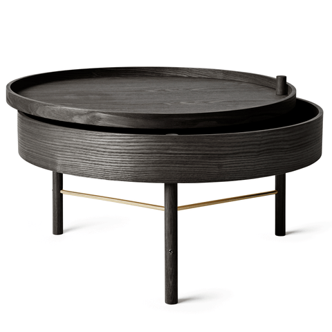 Menu A/S - Turning Coffee Table - Black Ash / One Size - Lekker Home