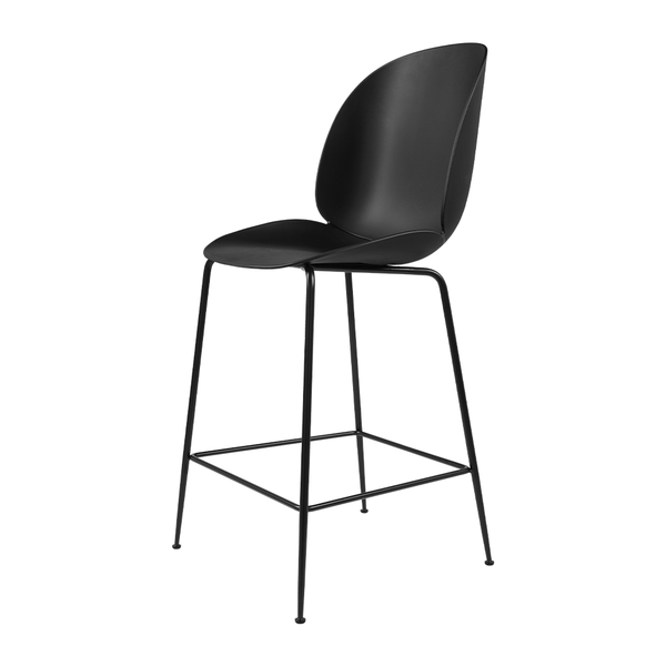 GUBI - Beetle Counter Stool - Black / Matte Black - Lekker Home