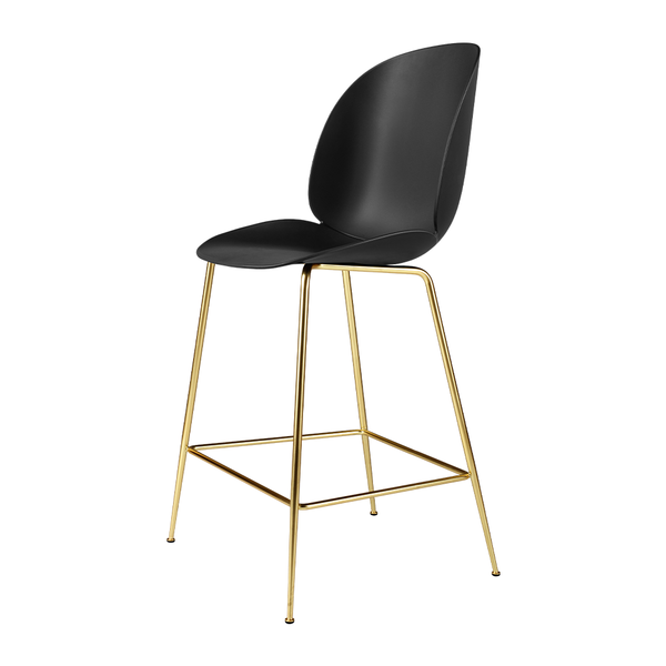 GUBI - Beetle Counter Stool - Black / Semi-Matte Brass - Lekker Home