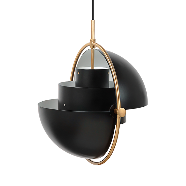 GUBI - Multi-Lite Pendant - Soft Black Semi Matte + Brass / One Size - Lekker Home