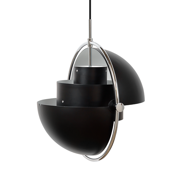 GUBI - Multi-Lite Pendant - Black Semi Matte + Chrome / One Size - Lekker Home