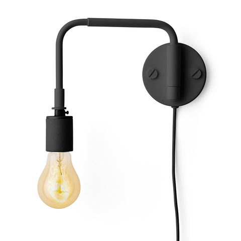 Menu A/S - Staple Wall Lamp - Black / One Size - Lekker Home