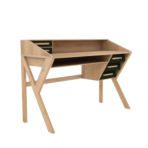 Ethnicraft NV - Marius Origami Desk - Cream / One Size - Lekker Home