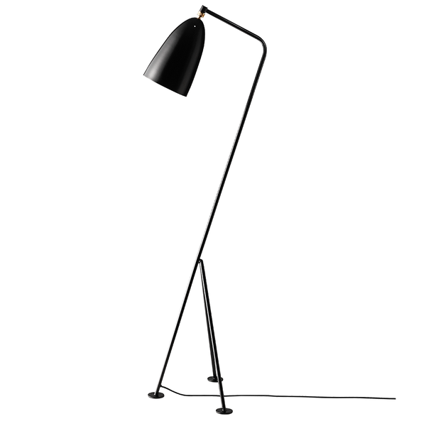 GUBI - Gräshoppa Floor Lamp - Black Semi Matte / One Size - Lekker Home