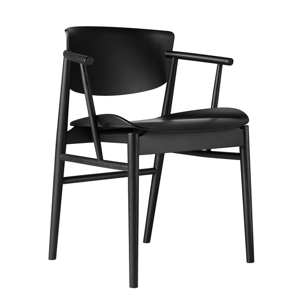 Fritz Hansen - N01™ Armchair - Black on Oak / One Size - Lekker Home