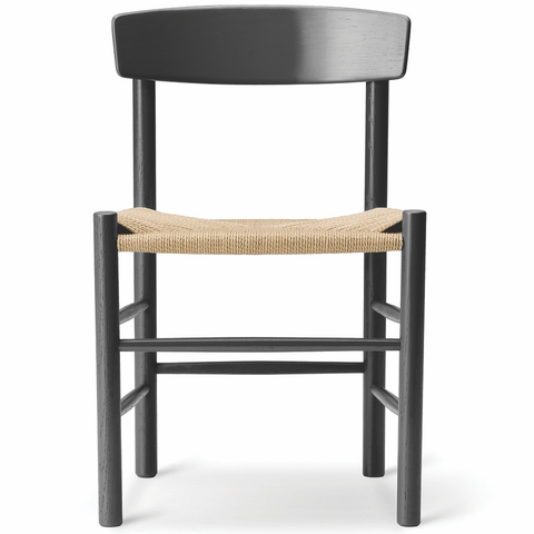Fredericia - J39 The Peoples Chair - Black Lacquered Oak / Natural Papercord - Lekker Home