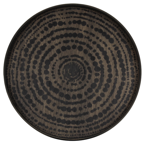 Notre Monde - Beads Round Tray - Black / Small - Lekker Home