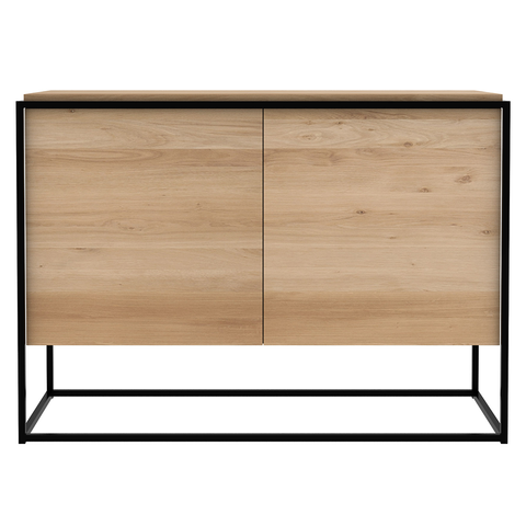 Ethnicraft NV - Monolit Sideboard - Black / Natural Oak - Lekker Home